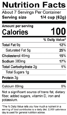 Truffle Alfredo Nutrition